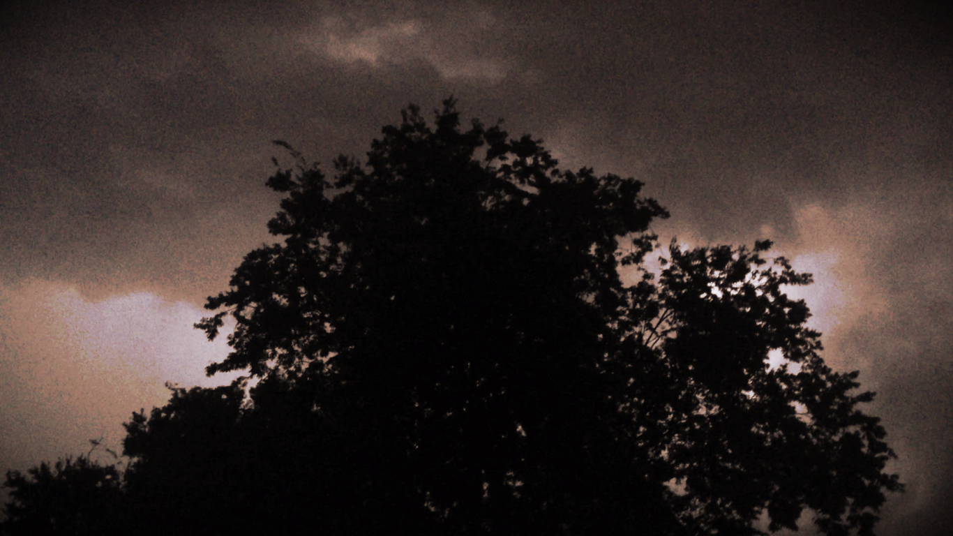 Austin thunder and light storm. May, 2016.