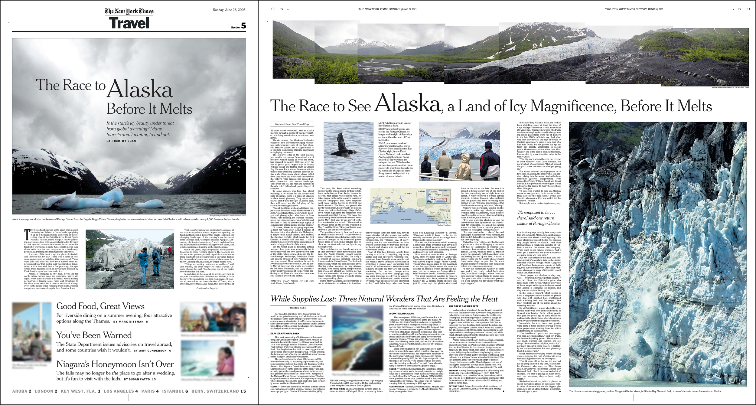 New York Times - Travel   -cover/double truck spread