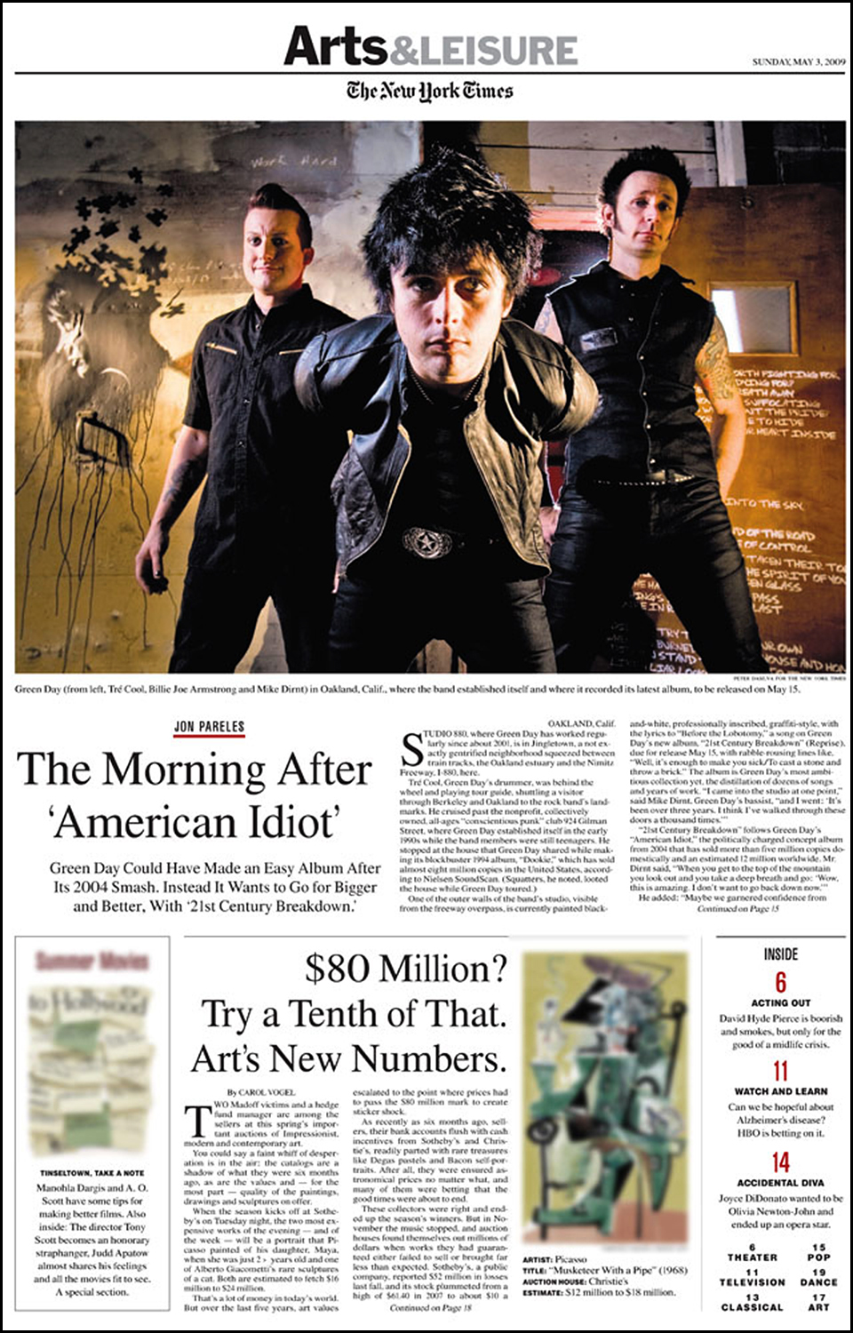 New York Times - Arts          -cover