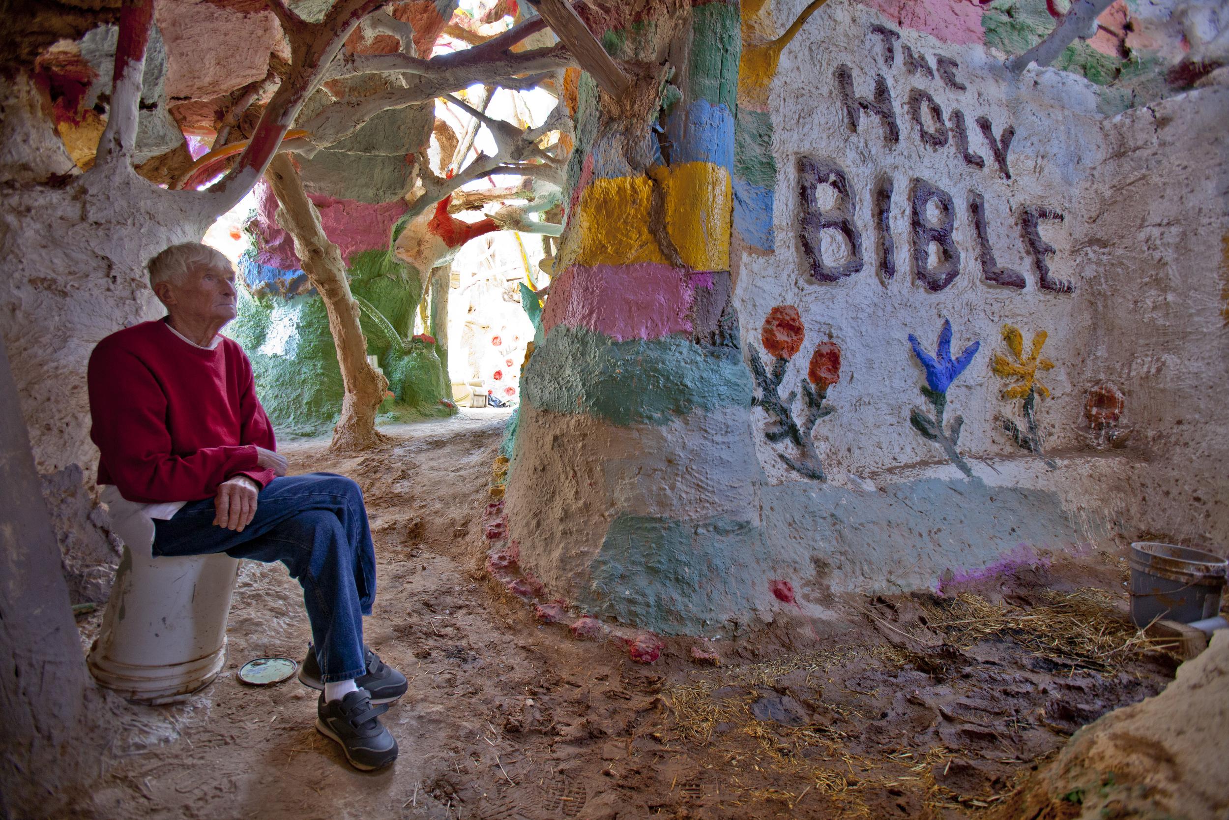 Leonard Knight - folk artist...creator of Salvation Mountain