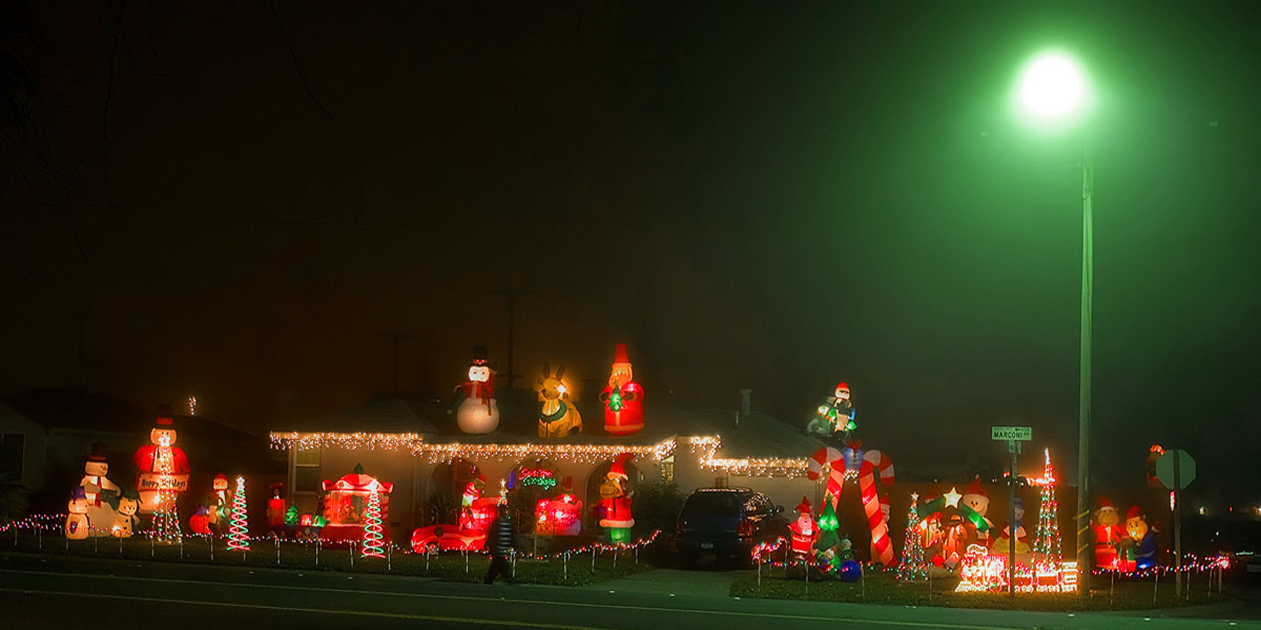 Inflatable Christmas display - Sacramento, CA