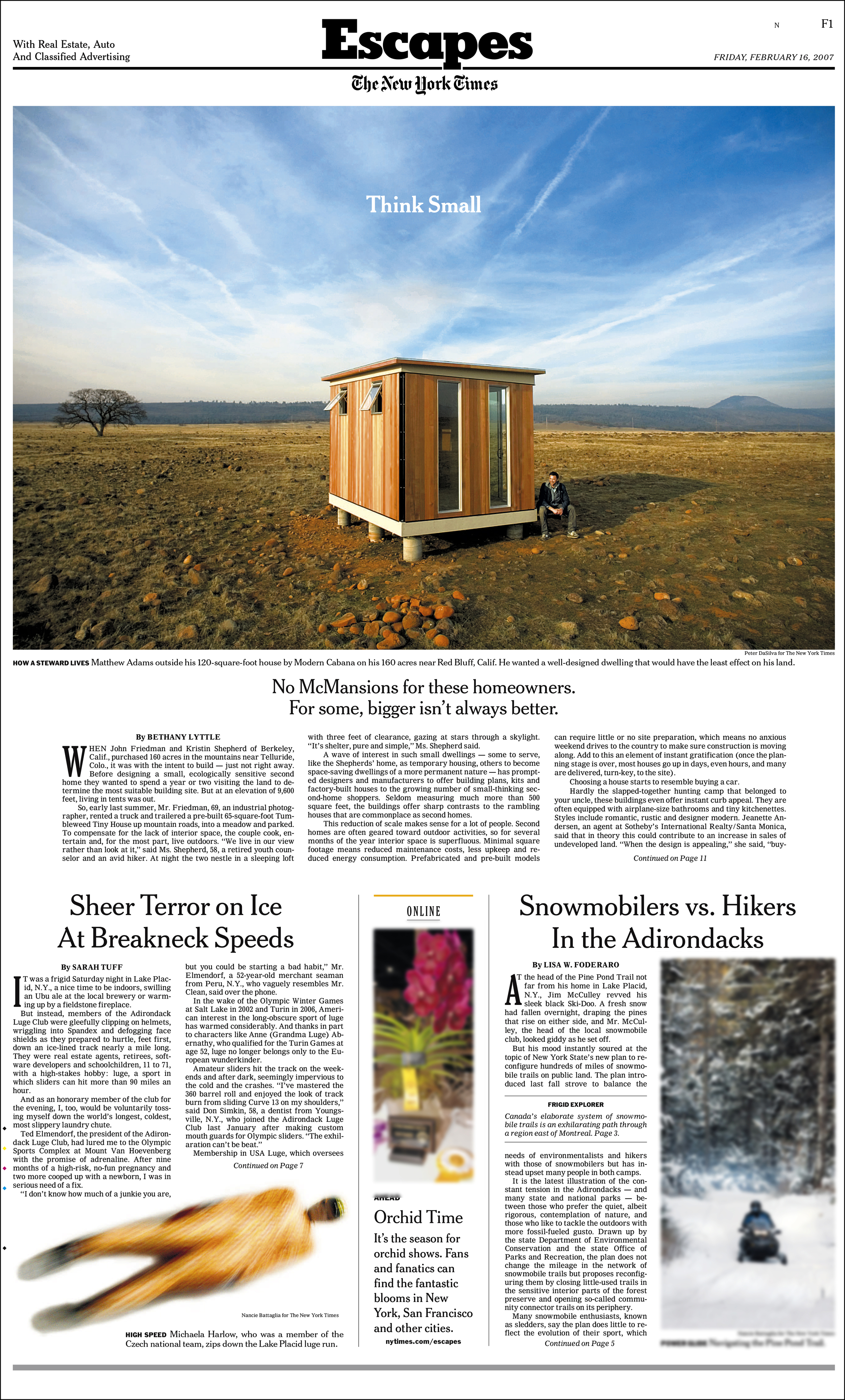 New York Times - Escapes      -cover