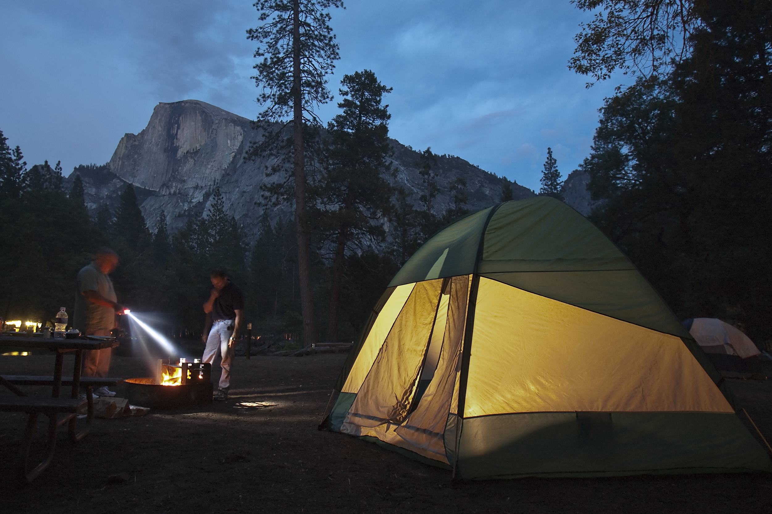 Camp site with a view, Half Dome - Yosemite National Park