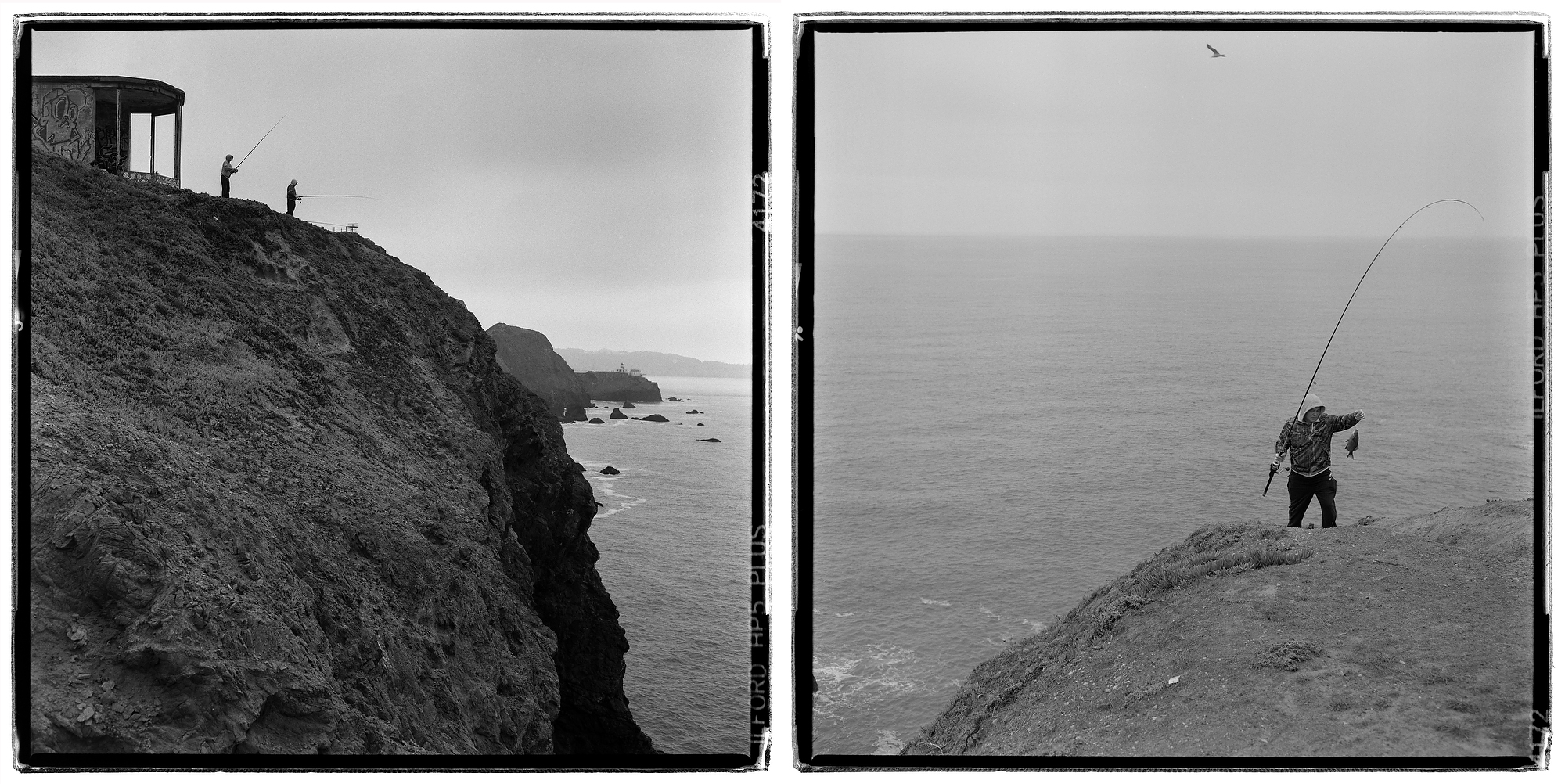 Cliff fishing - Marin Headlands, Marin County, CA