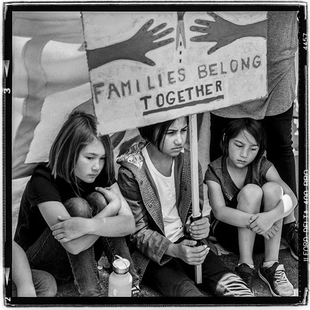 "LIFE SQUARED - ""Families Belong Together!"" © 2018 Peter DaSilva. #stoptrump #familiesbelongtogether #childeren #seperation #fireice #immigration #sanfrancisco #120 #ilford #delta400pro #bw #film #fullframe #rolleiflex #3.5e3 #filmisnotdead #ilfordphoto #filmlover #6x6 #analog #nophotoshop #filmphotographer #pdsphoto #peterdasilva #rolleiclub #analogueposse"