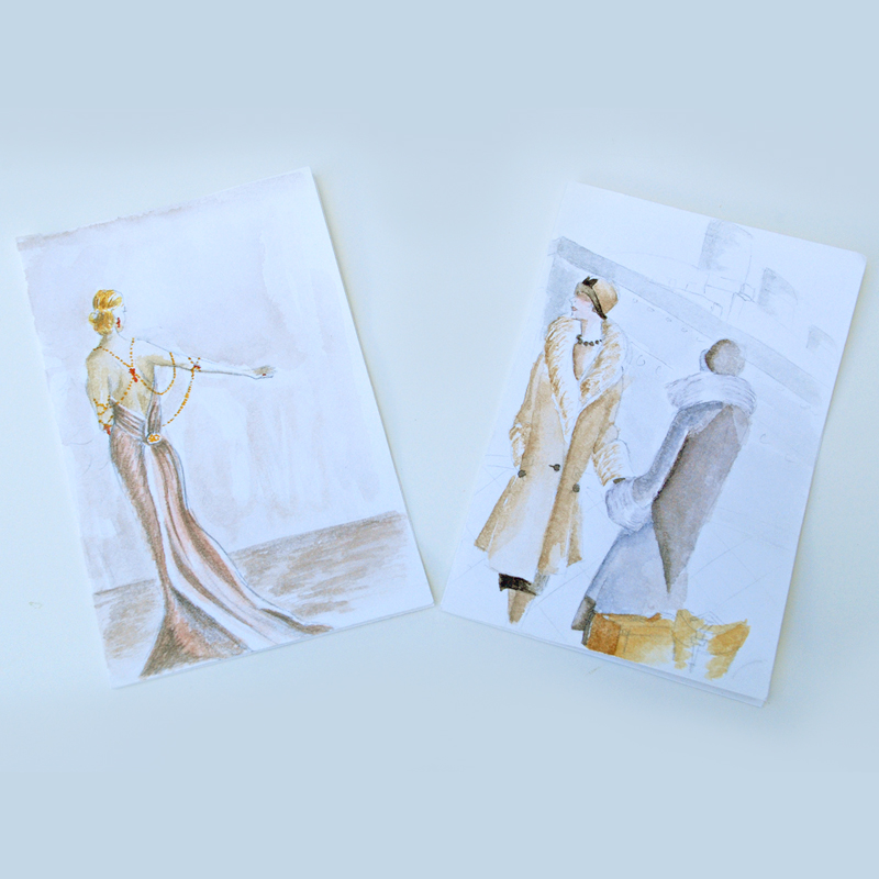 Illustrated cards