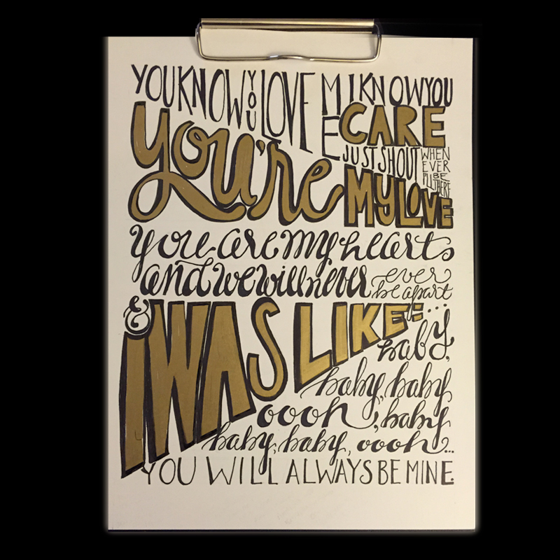 Lyrics commissioned for baby's nursery.