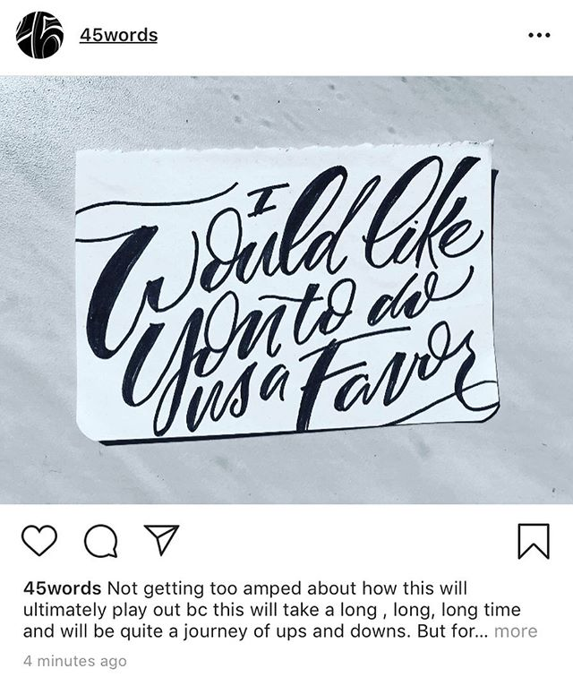 Repost from @45words .. Not getting too amped about how this will ultimately play out bc this will take a long , long, long time and will be quite a journey of ups and downs. But for today, for right now allow us all this …. What a dumbass. .. #lettering #moderncalligraphy #letters #handlettering #impeachthemf #impeachtrump #immoralpresident #vote #fuckingvote #resistthruletters #resistthroughletters #letteringtheresistance #202creates #acreativedc #politicallettering #resistart #lawlesspresident #immoraladministration #votethemout