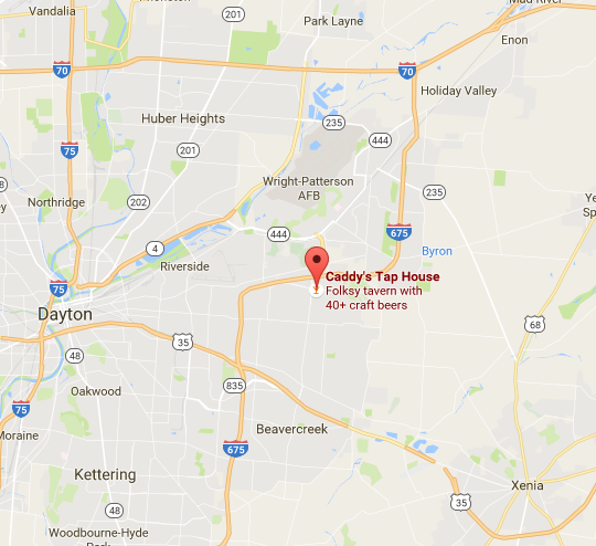 Caddy's Tap House is located at 2760 Towne Dr. Beavercreek, OH 45431.Click the above image for directions.