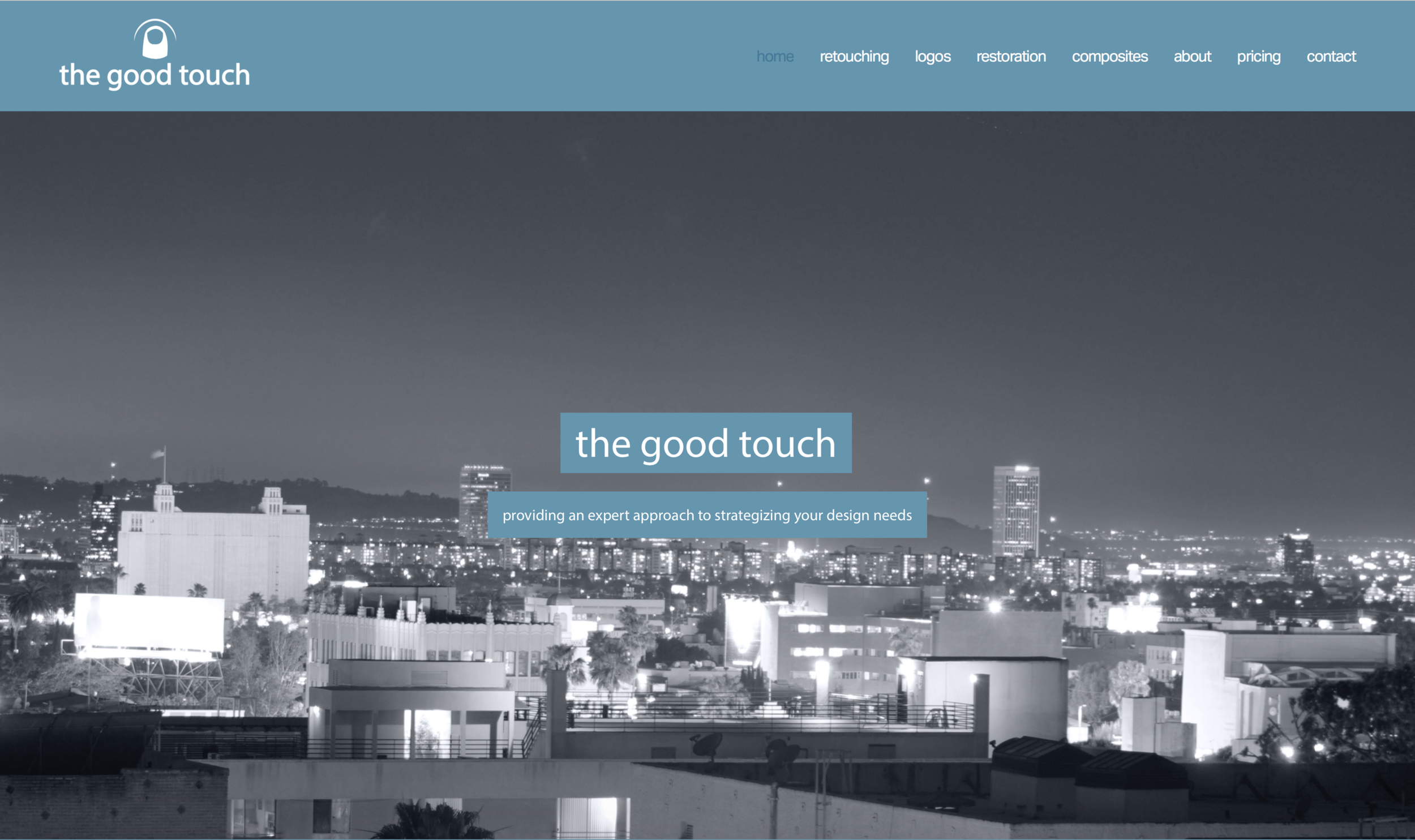 web development for the good touch business. graphic design, branding, logo design, photo manipulation