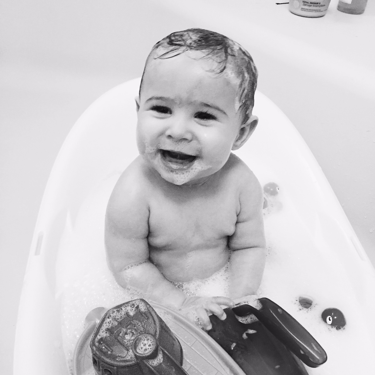 He Loves his bath time!
