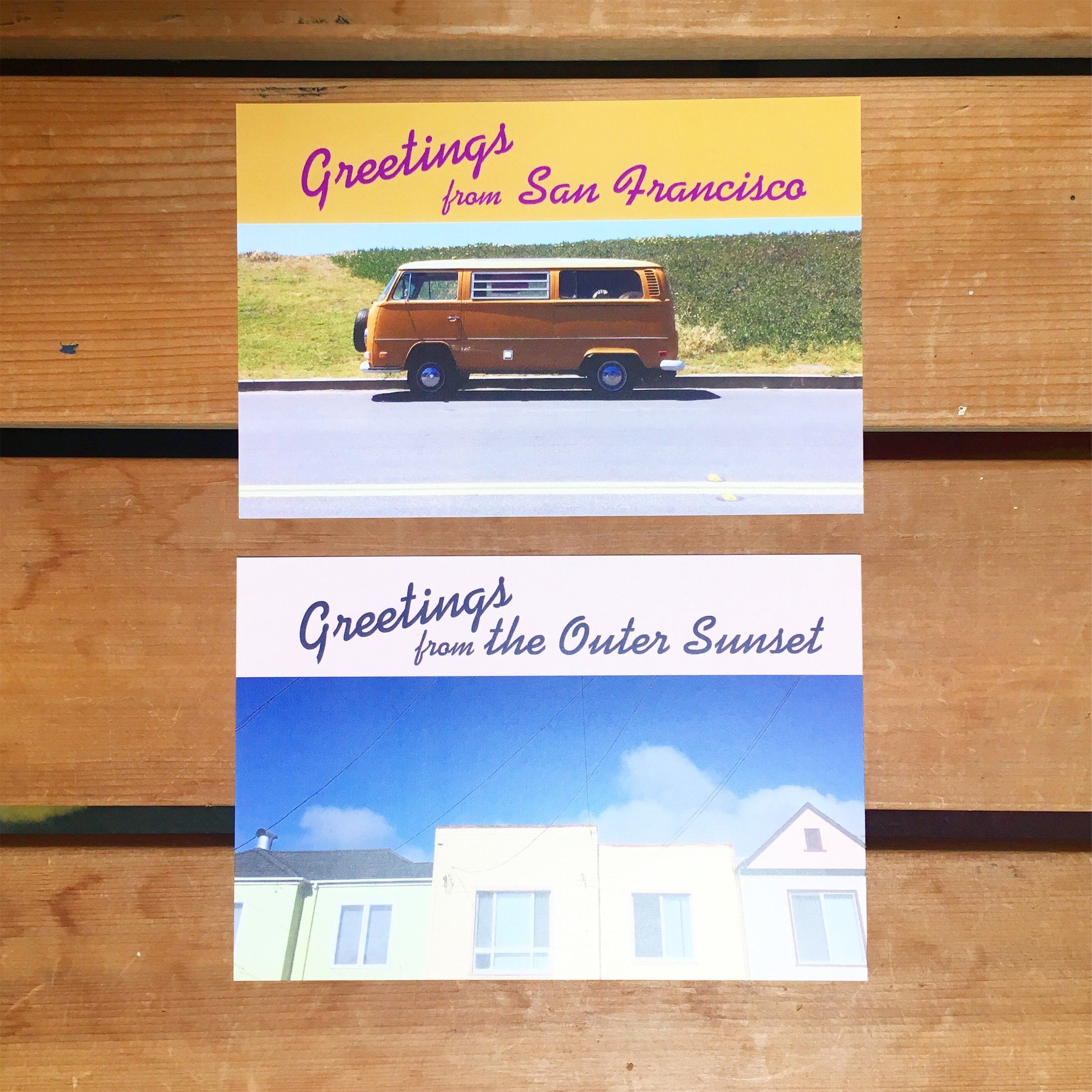 "Graphic Design: ""Greetings from"" postcard series for Establish"