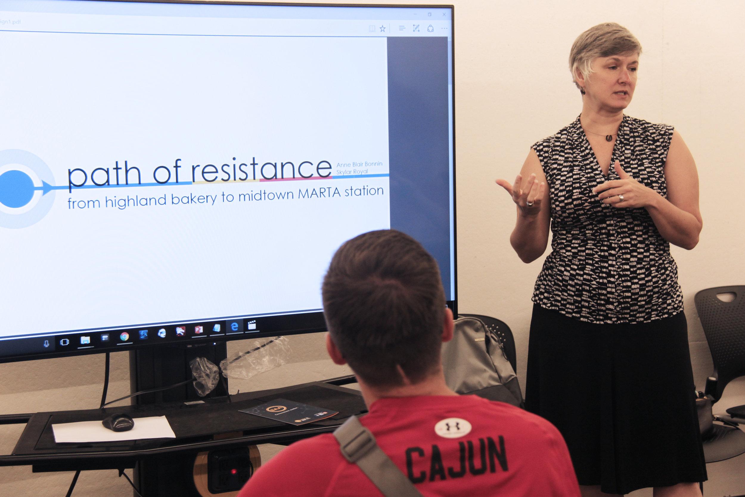 Prof. Rinehart describes assignment