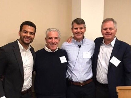 Sam Nana-Sinkam, Google Executive; Gary Sheinbaum, CEO of Tommy Hilfiger Americas; Rick Thompson, Executive Director of Champions Community Foundation; and Tom Hislop, Managing Director at EHS Partners and CCF Board Member
