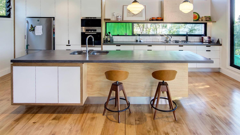 Concrete Kitchen Island and Concrete Kitchen Benchtop