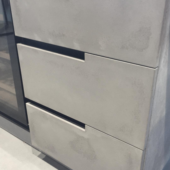 Concrete Drawer Fronts