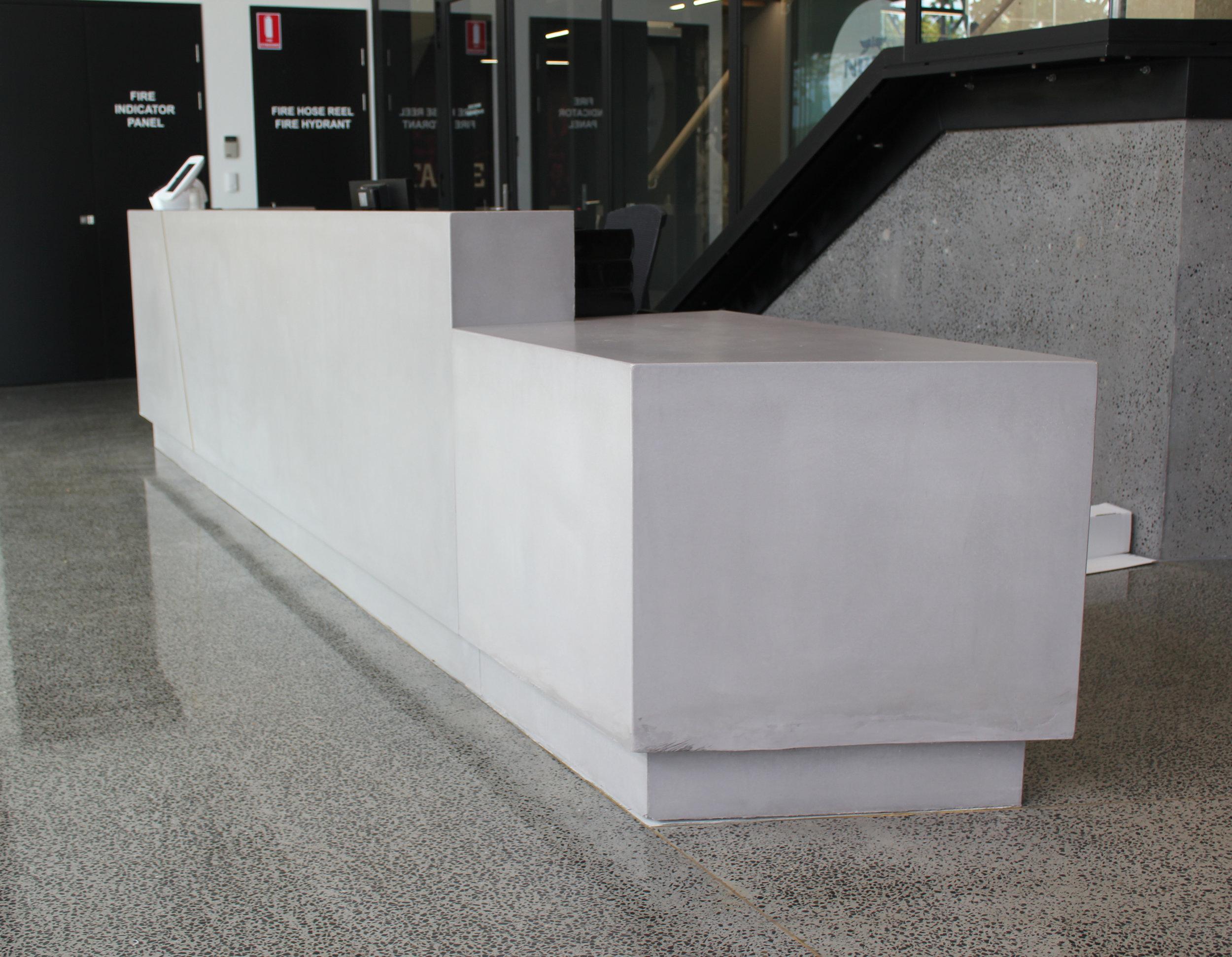 Concrete Reception Counter
