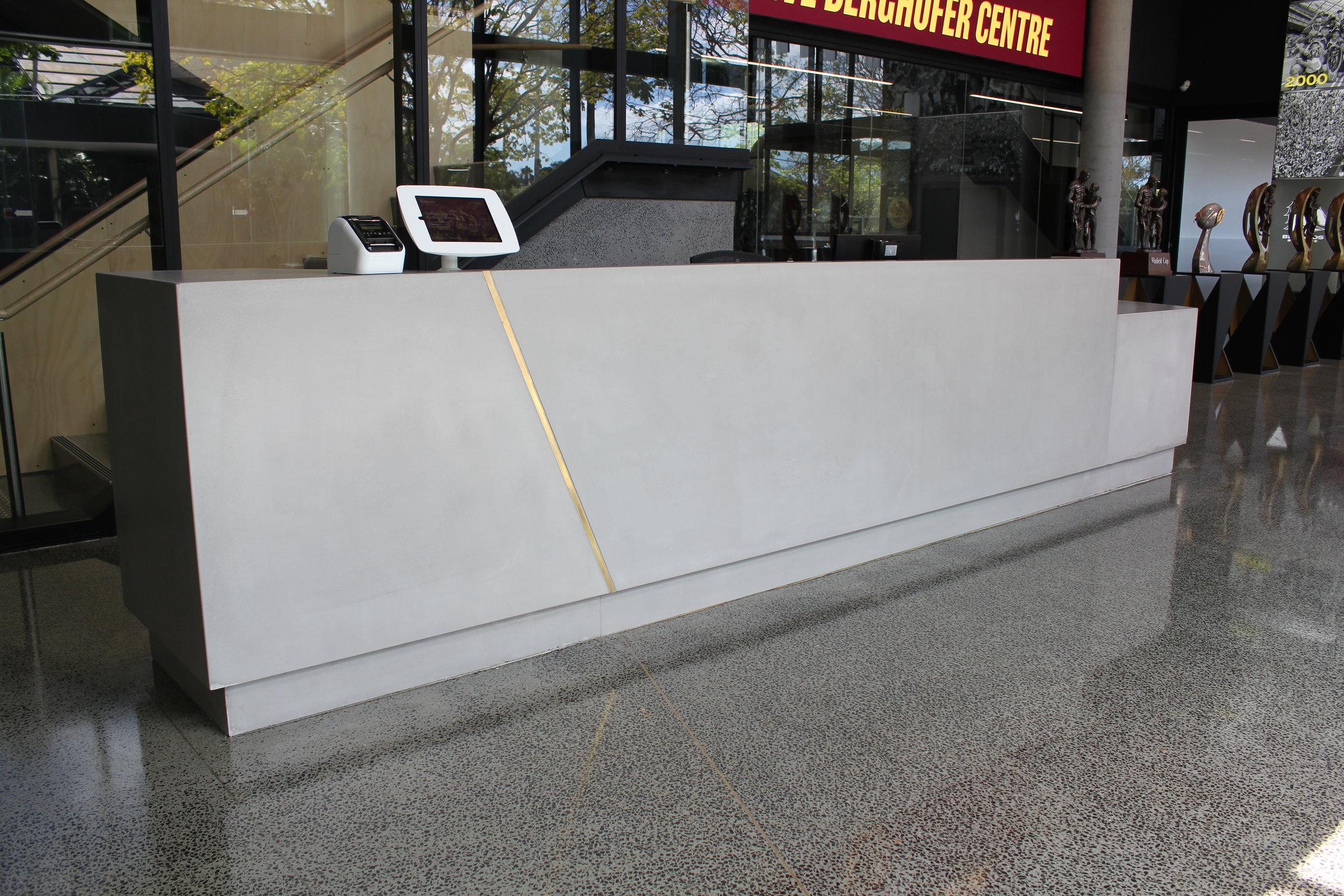 Broncos    - Concrete Reception Counter    (Click on photo to see more photos)