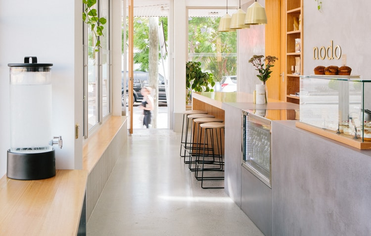 Nodo Cafe    - Timber & Concrete Counter, Timber & Concrete Display Cabinet, Concrete Benchtops    (Click on photo to see more photos)