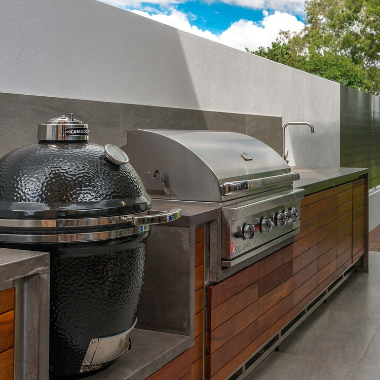 Indooroopilly St Residence    - Concrete Barbeque Benchtops, Concrete Kitchen Benchtop, Concrete Kitchen Island    (Click on photo to see more photos)