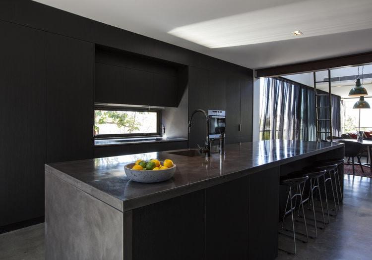Enoggera Terrace Residence    - Concrete Kitchen Benchtop, Concrete Kitchen Island    (Click on photo to see more photos)