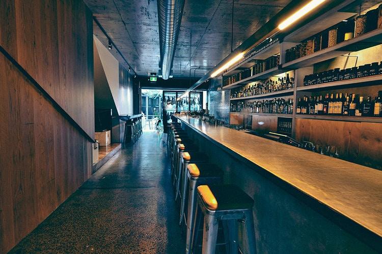 Gerard's Bar    - Concrete Bar Counter, Concrete Shelves, Concrete Vanities    (Click on photo to see more photos)