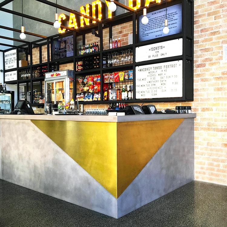 Cineplex Hawthorne    - Concrete Countertop, Concrete Vanities, Concrete Bench Seat, Concrete Wall Panels