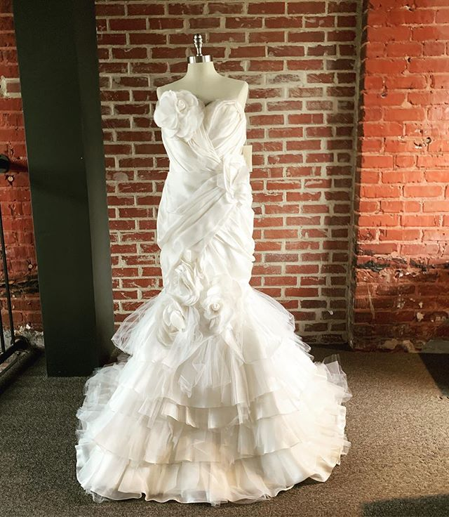 Did someone say organza? Silk? Tulle? We've got just the #marchesa dress for you. #marchesabridal
