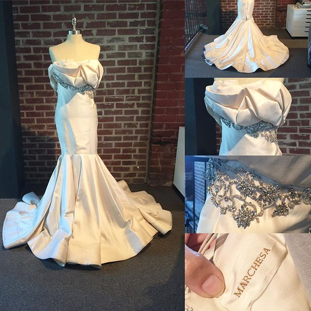 We call her #Marilyn. You can call her yours. This elegant #Marchesa gown if for sale in the U.S. Size 4. Tradesy link in bio.