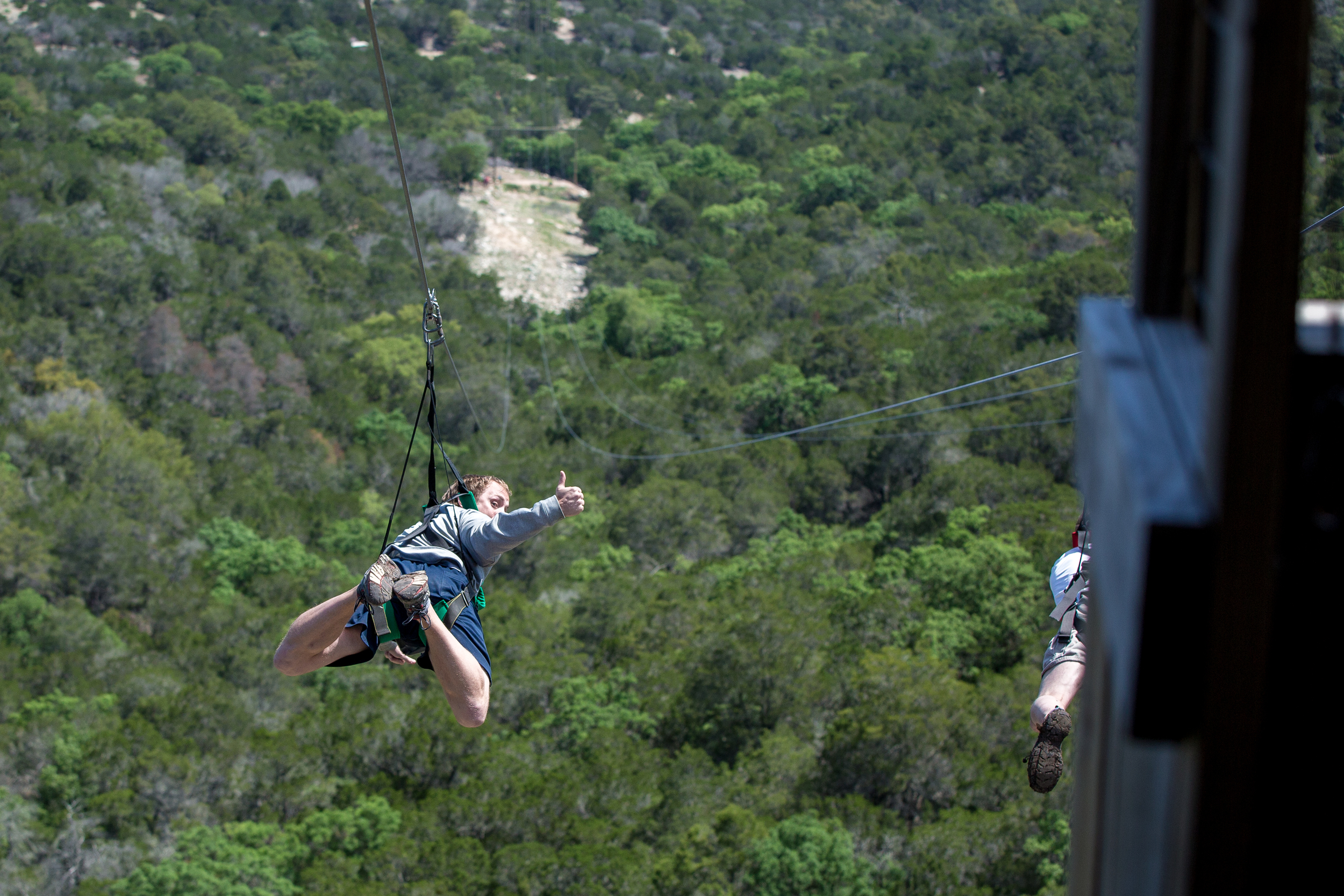 Camp Eagle in Rocksprings, TX is now home to the longest zipline in Texas, the Zipline3000!!! 3000 feet, 50mph!   Click on the image above to watch the video!