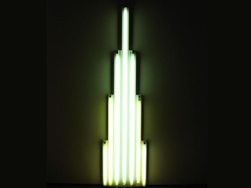 'Monument' for V. Tatlin 1 by Dan Flavin  – MOMA, New York