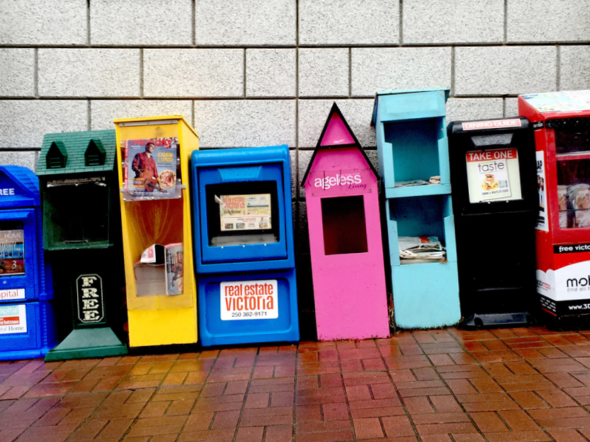 Newspaper Vending Machines – Victoria, Canada