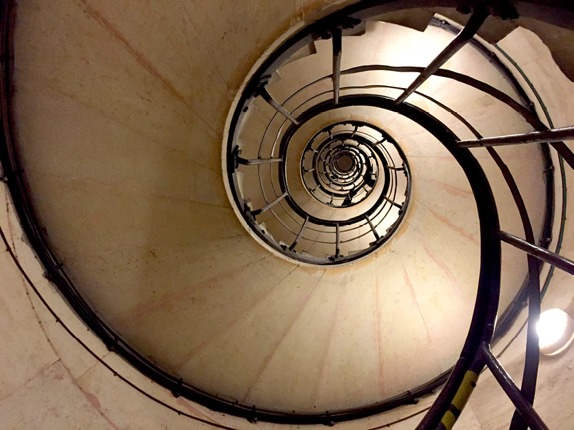 Internal Spiral Staircase, Statue of Liberty – New York