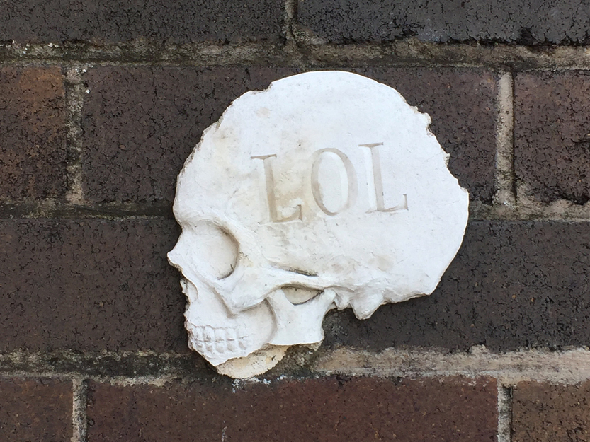 'LOL' Skull by Will Coles – Sydney