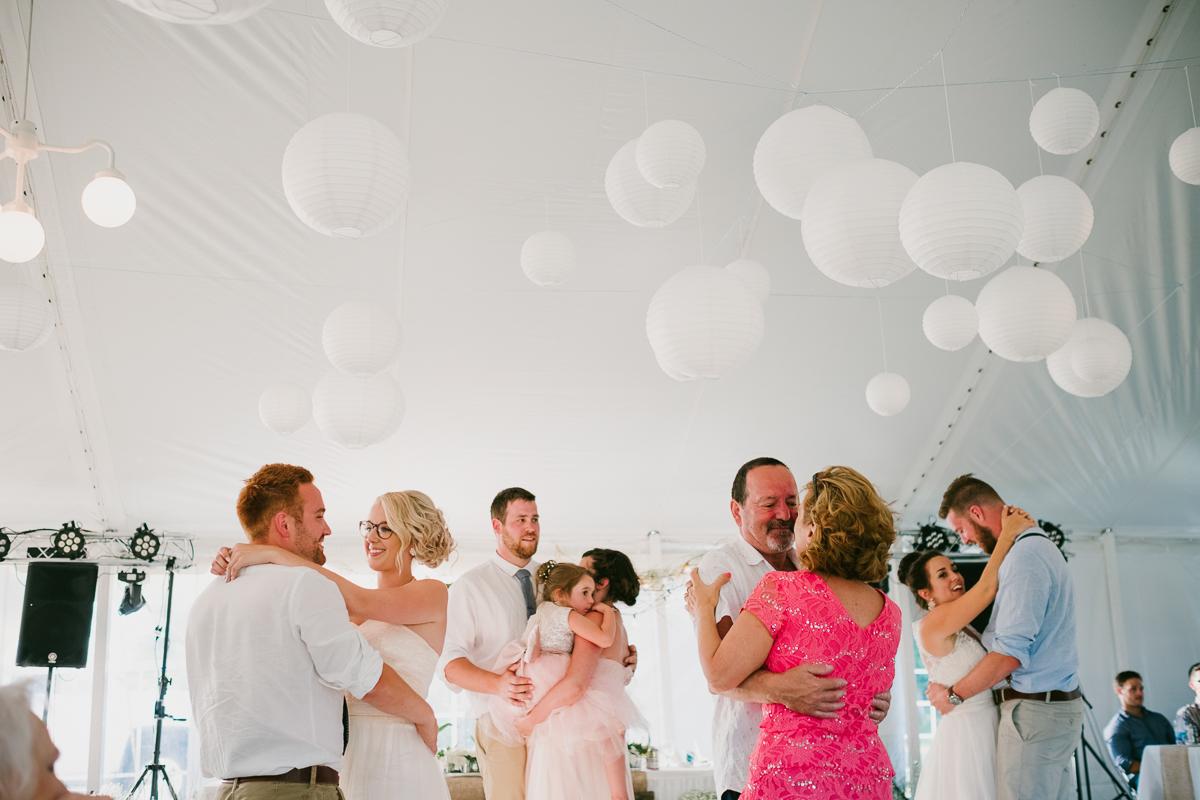 A backyard wedding in Inkerman New Brunswick