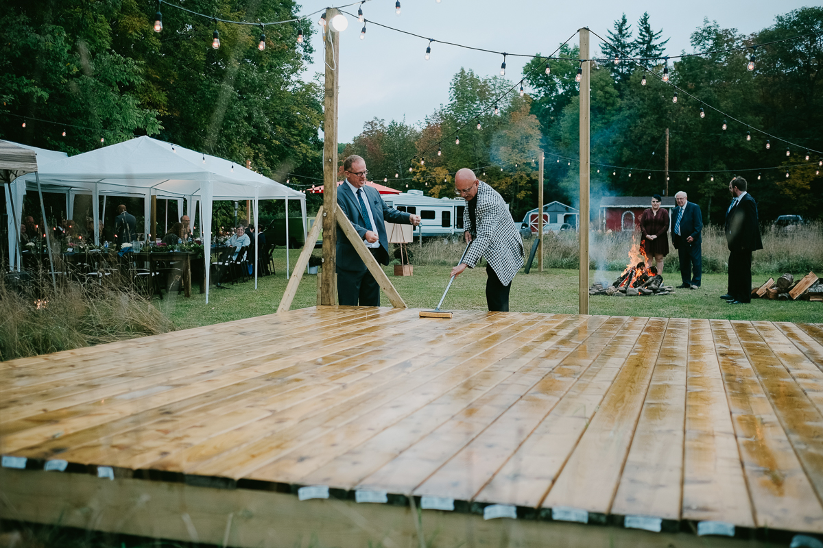 A Bishopville backyard wedding