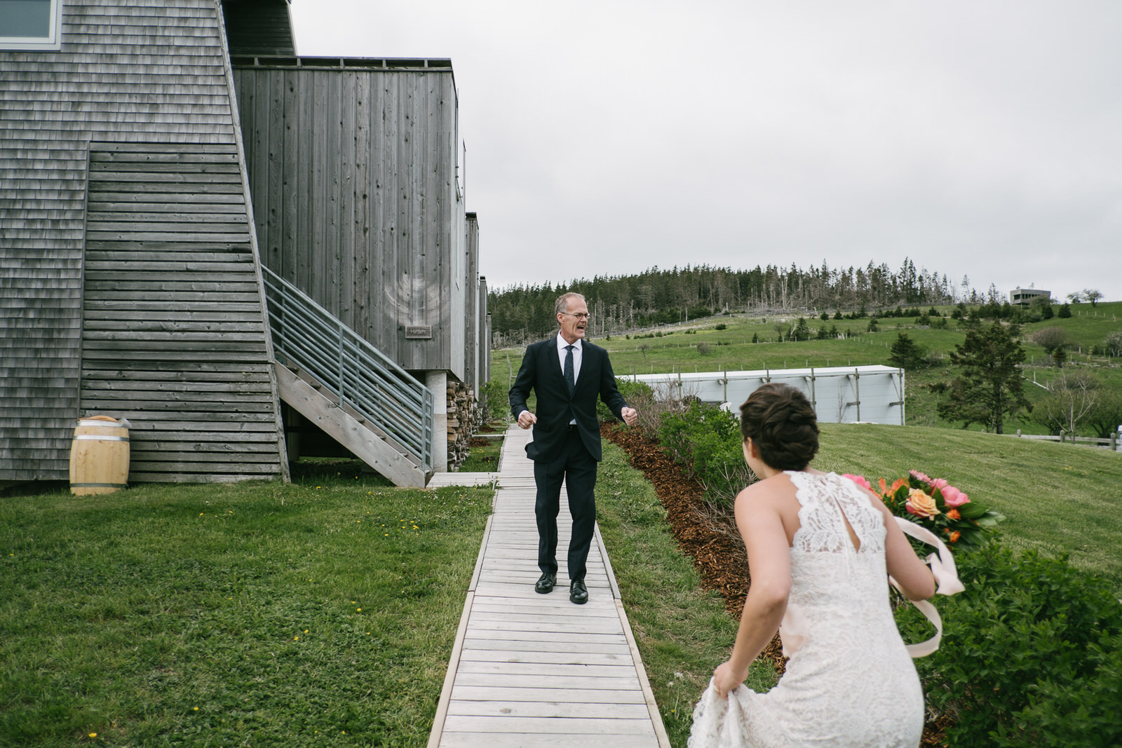 A late spring wedding at Shobac in Lunenburg County, Nova Scotia.