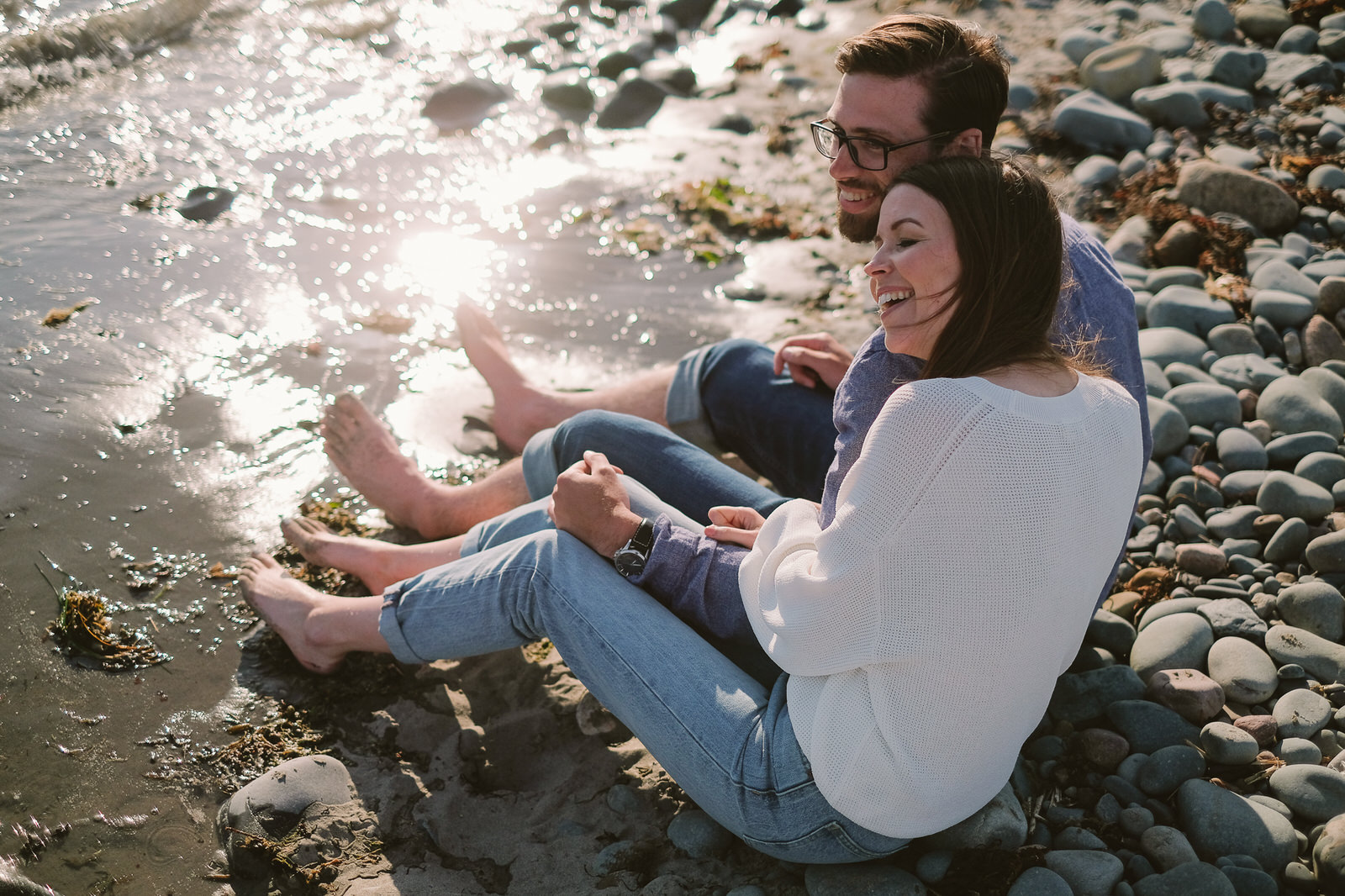 Engagement photos taken in Eastern Passage, Nova Scotia by Halifax Wedding Photographer Evan McMaster.
