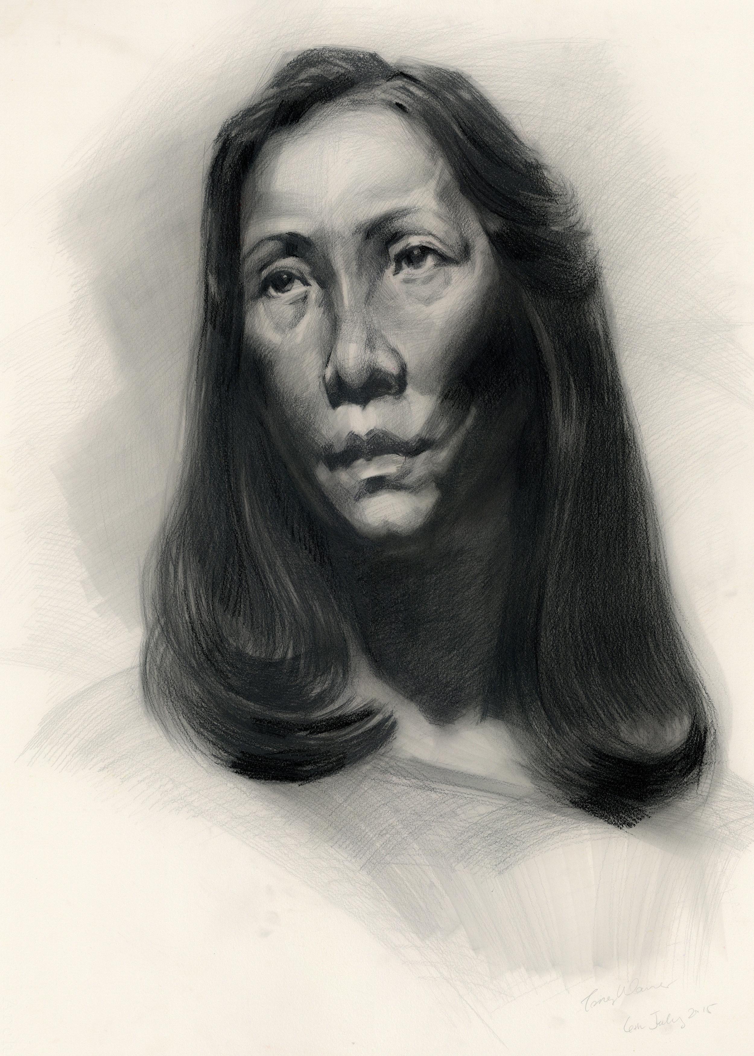 Untitled Portrait, 20in x 30in, Pencil, 2015
