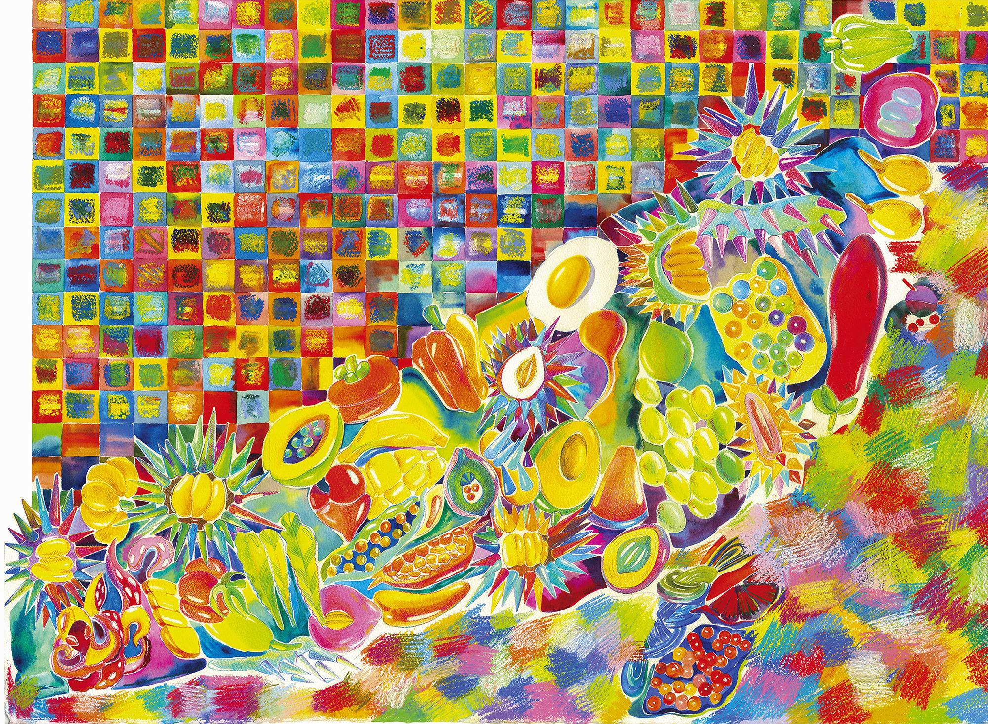 Big Dipper  20in × 30in  2016  Media: Pencil, Acrylic, Watercolor, Pastel