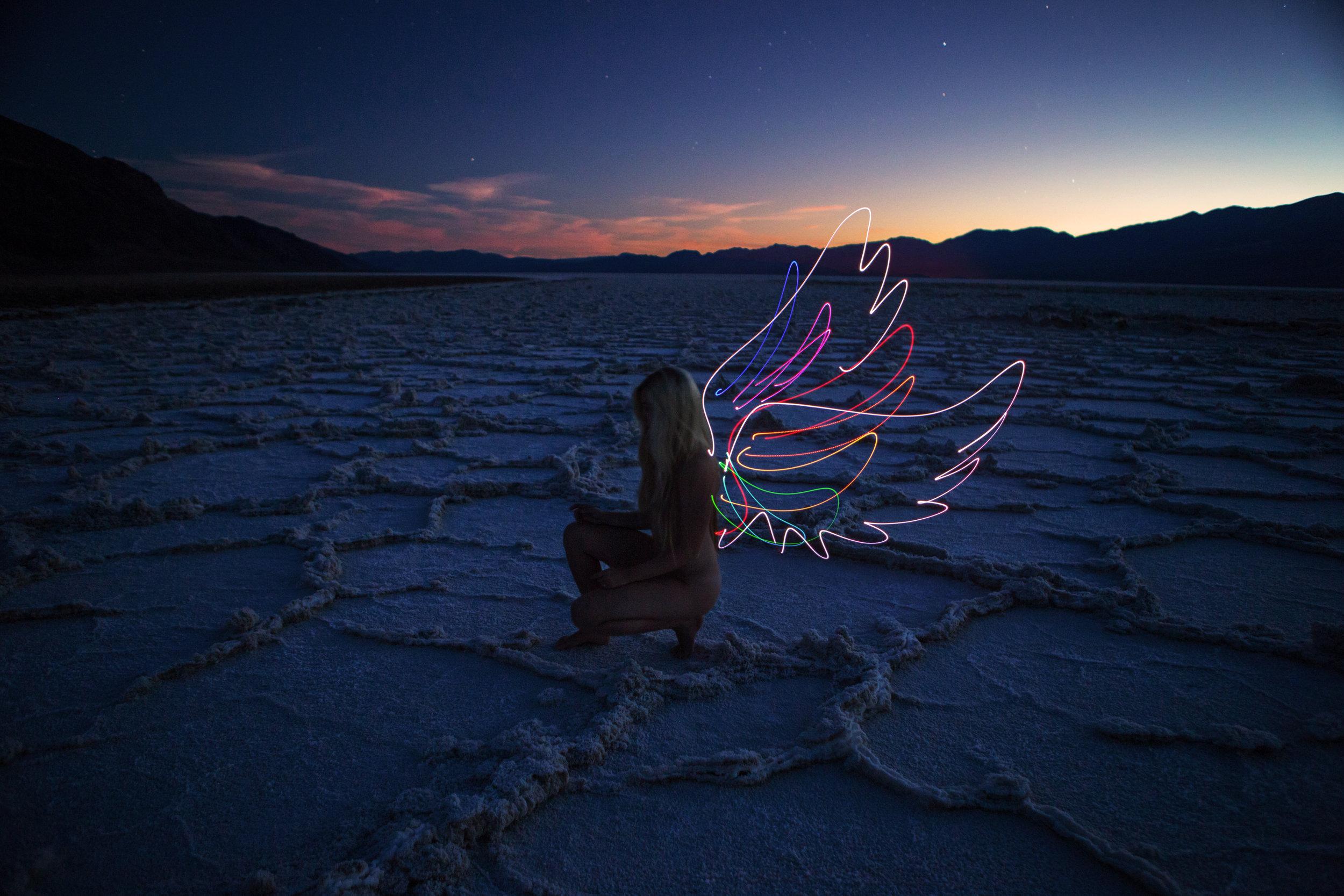 AstroBandit_JordanRose_DariusTwin_DarrenPearson_LightPainting_BadwaterBasin_DeathValley_BlueHour_Angel.jpg