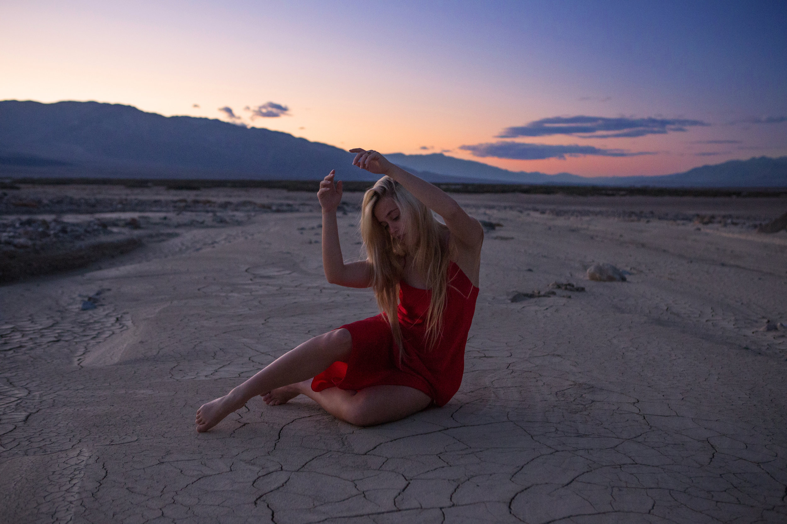 AstroBandit_JordanRose_DeathValley_MudCracks__RedSilk_Sunset_Dancing_1.jpg
