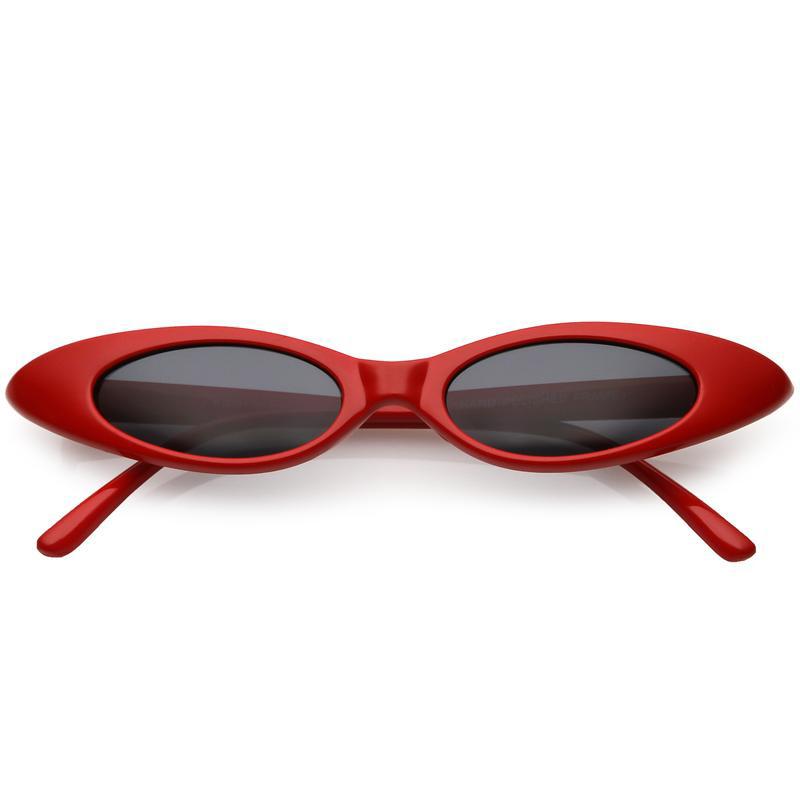 Thin Red Cat Eye Sunglasses