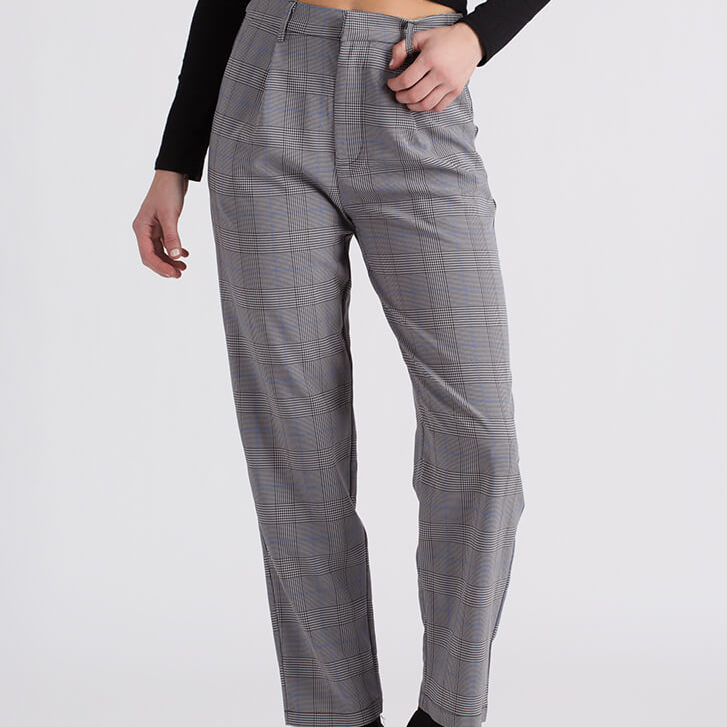 Plaid Print Trousers by GoJane
