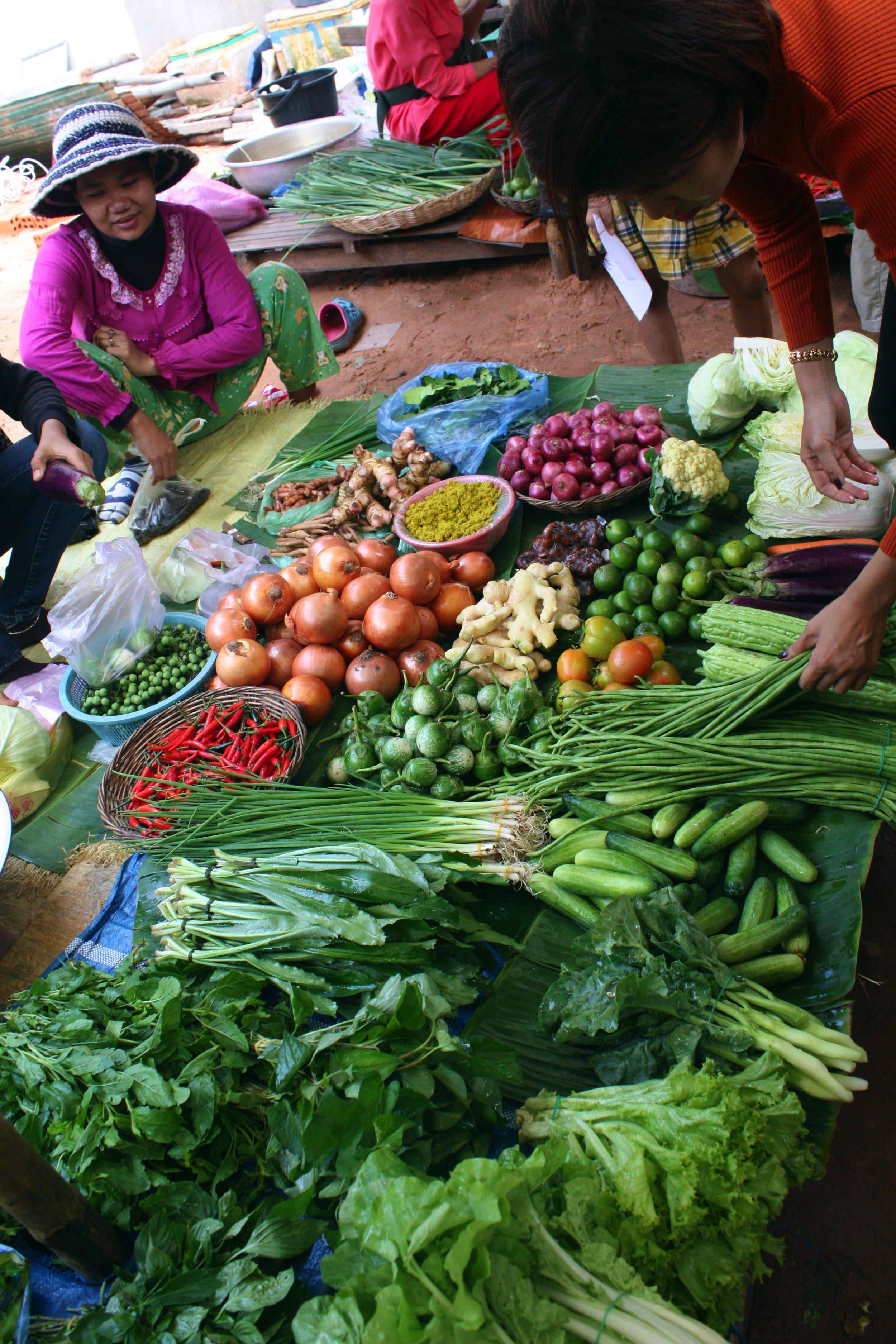 Morning market visit near Sela's.
