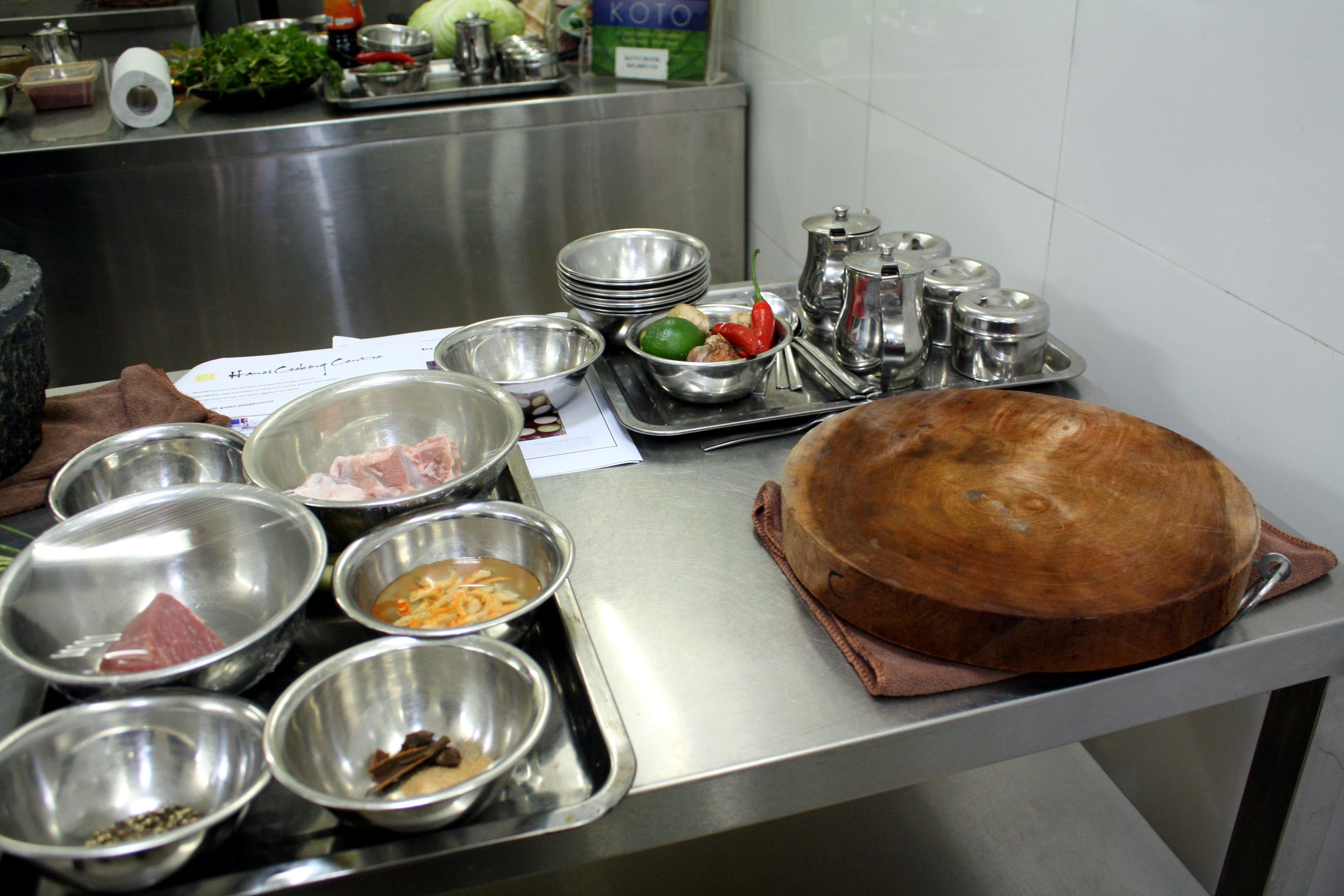Hanoi Cooking Centre sets you up with all your ingredients and tools from the get go.