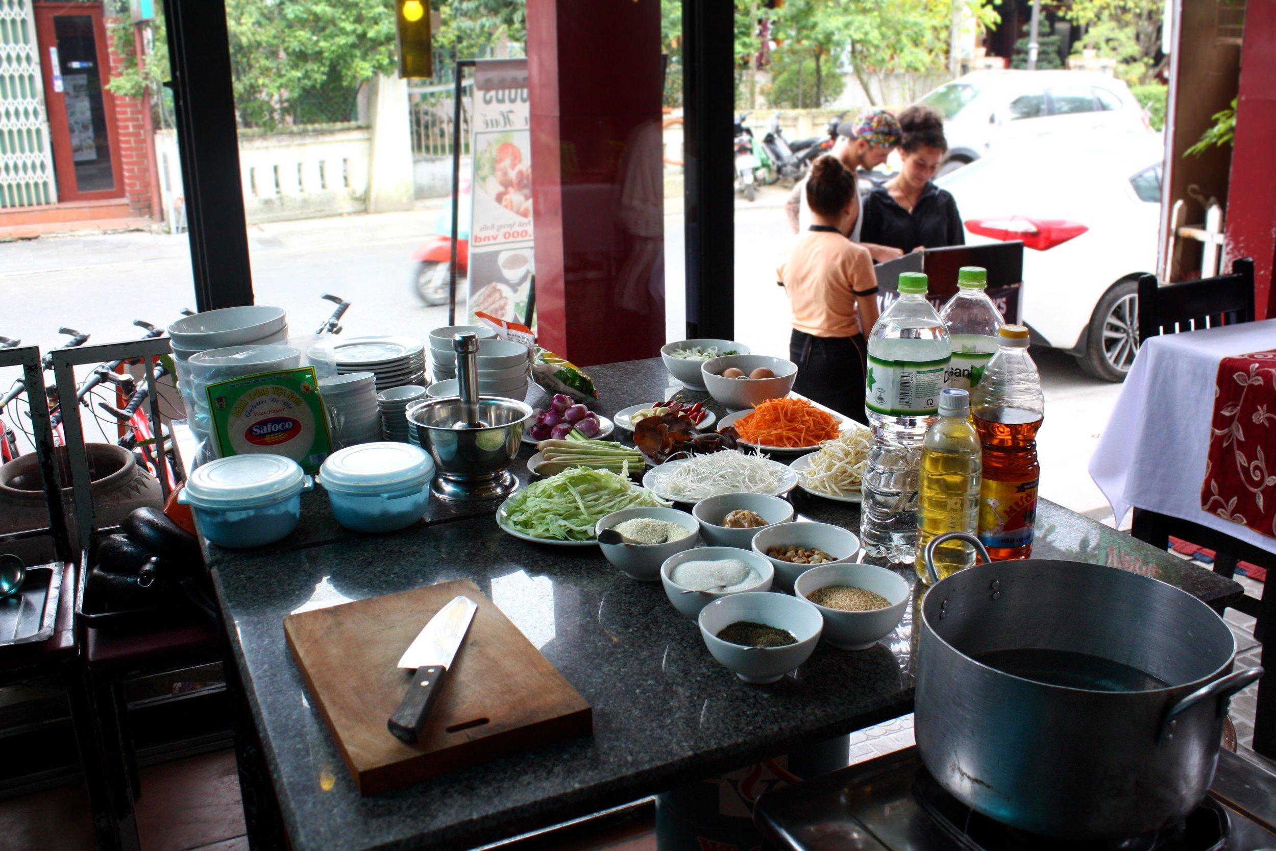 Gluten free cooking class Hue