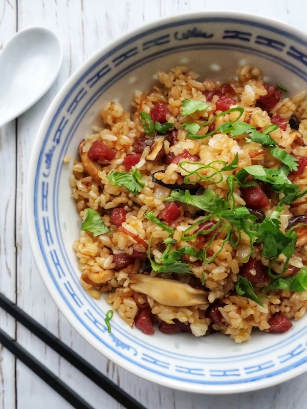 gluten free chinese sausage dried shrimp fried rice