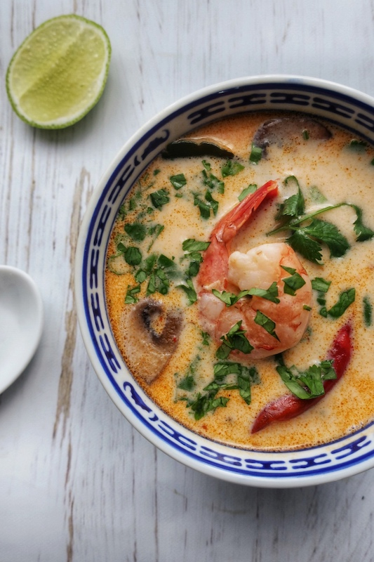 5 ingredient coconut tom yum soup