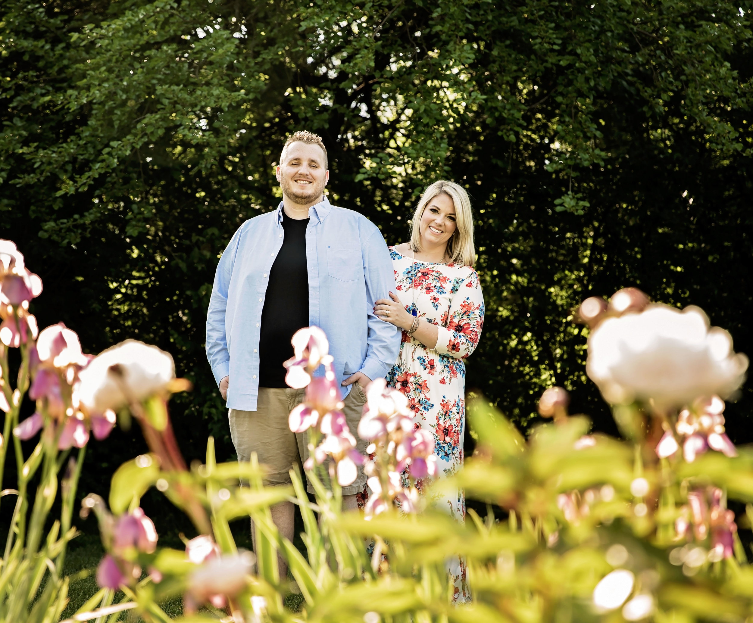 Holcomb Gardens Spring Engagement Session Indiana